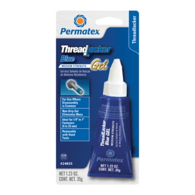 Permatex Threadlocker, Blue PTX 24835-1