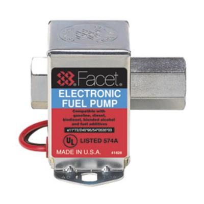 Fuel Pump, Electric, Cube, 50 GPH, 15 0 - 12 0 PSI, Facet [R] BK