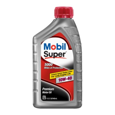 mobil super 10w40 motor oil 1 qt mob 120430 buy online. Black Bedroom Furniture Sets. Home Design Ideas
