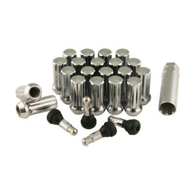 Wheel Lug Nut Install Kit Spline Chrome 9 16 In