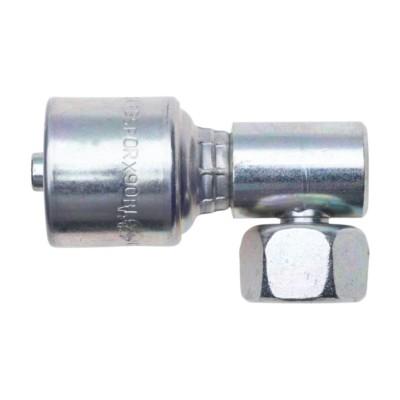 Female British Standard Parallel Pipe O-Ring Swivel 3//8 ID Gates 6G-6FBSPORX90BL MegaCrimp Couplings 90 Block