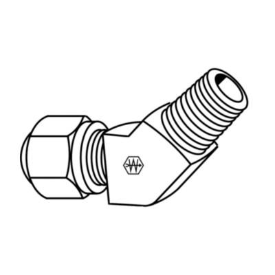45 Degree Elbow EATON Weatherhead 1480X6X6 Air Brake Tubing 3//8 Tube OD 3//8 Male Pipe Thread 3//8 Tube OD 3//8 Male Pipe Thread Male Elbow to Male Pipe Thread