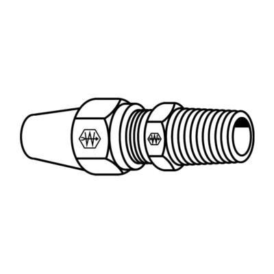 5//8 Tube OD EATON Weatherhead 1368X10 Air Brake Tubing Male Connector 1//2 Male Pipe Thread 5//8 Tube OD 1//2 Male Pipe Thread