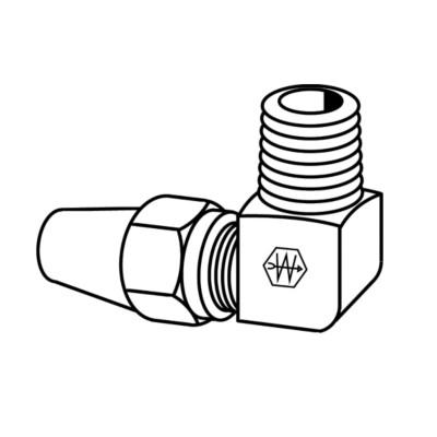 EATON Weatherhead 1369X6 Air Brake Tubing 1//4 Male Pipe Thread 3//8 Tube OD 1//4 Male Pipe Thread 90 Degree Elbow Male Elbow to Male Pipe Thread 3//8 Tube OD