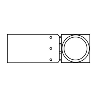 Low Carbon Steel 3//8 Hose ID, Eaton Weatherhead Coll-O-Crimp 06U-L06 Banjo Fitting
