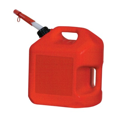 Gas Can, Spill Proof, 5 Gal. Red Polyethylene BK 8174093