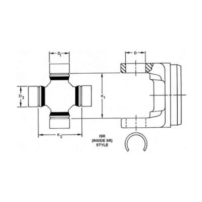 Dana Spicer Universal Joint (U-Joint) TWD 5260X | Buy Online - NAPA