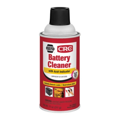 Battery Spray Cleaner 11 oz CRC Battery Cleaner with Acid Indicator