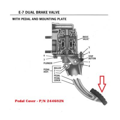 Air Brake Valve Foot Treadle Pedal Cover Hd Truck Twd