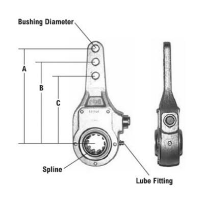 Bendix Brake Slack Adjuster - Manual TWD BEN278035N | Buy