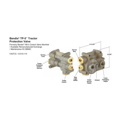 Air Brake Valves / Tractor Protection - New - H/D Truck