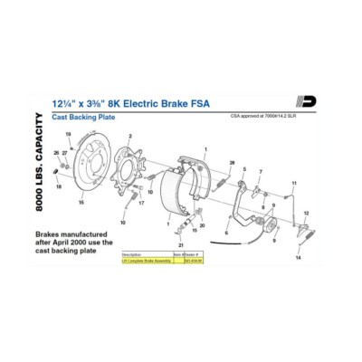 traction brake assembly twd d02343400 buy online napa. Black Bedroom Furniture Sets. Home Design Ideas