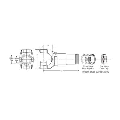 Dana Spicer Driveshaft Slip Yoke Assembly TWD 63321KX | Buy Online