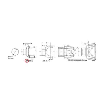 Dana Spicer Driveshaft End Yoke TWD 634331X | Buy Online - NAPA Auto