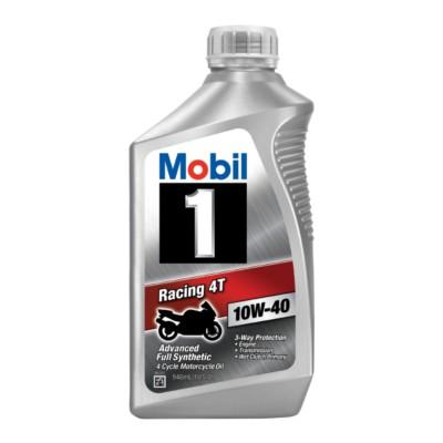 mobil 1 racing 4t 10w40 4 cycle oil 1 qt mob 124245. Black Bedroom Furniture Sets. Home Design Ideas