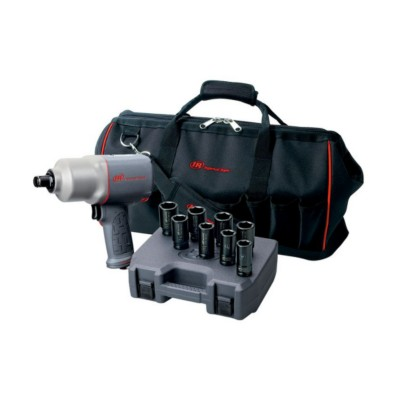 Air Impact Wrench Ingersoll Rand 3/4 in  Pistol, Quiet Tool, Set