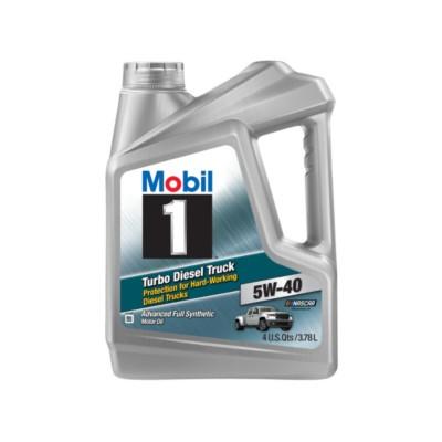 mobil 1 turbo diesel truck 5w40 motor oil 1 gal mob. Black Bedroom Furniture Sets. Home Design Ideas
