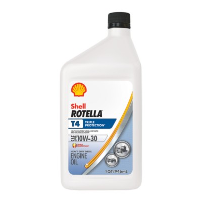 Shell Rotella T4 >> Shell Rotella T4 Triple Protection Motor Oil - 1 qt 10W30 Conventional SHE 550045146 | Buy ...