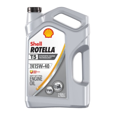 Shell Rotella T5 Synthetic Blend Motor Oil 15W40 Synthetic Blend SHE