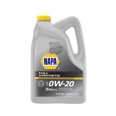 NAPA Motor Oil 0W20 Full Synthetic 5 qt (US) NOL 75541-1