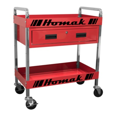homak 30 in single drawer professional service cart - red tss ...