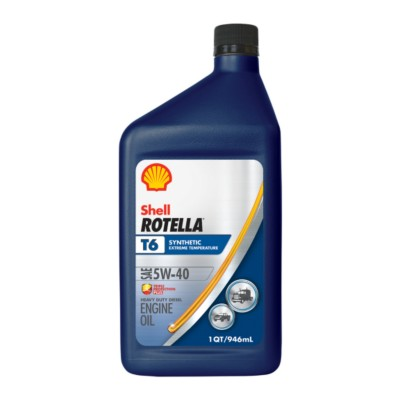 shell rotella t6 full synthetic 5w40 motor oil 1 qt she. Black Bedroom Furniture Sets. Home Design Ideas