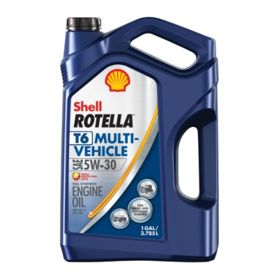shell rotella t6 multi vehicle 5w30 motor oil 1 gal she. Black Bedroom Furniture Sets. Home Design Ideas