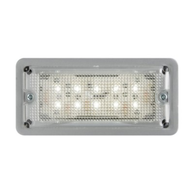 RV LED Low Profile Dome Light, Recess Mount, Standard Diodes BK