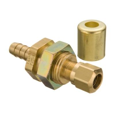 3//8 Hose ID EATON Weatherhead Coll-O-Crimp 33806P-Y66 Air Brake Slider Line Fitting 3//8 Tube Size 3//8 Hose ID 3//8 Tube Size CA360 Brass