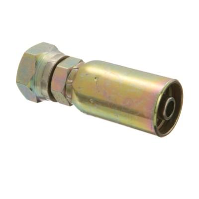 EATON Weatherhead Coll-O-Crimp 04U-054 Female Straight Pipe Swivel Fitting 1//4 Hose ID 1//4 Pipe Size 1//4 Hose ID 1//4 Pipe Size Low Carbon Steel
