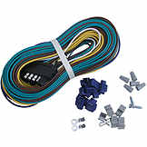Trailer Wiring Harness, 5-Way Wishbone Style, 25 ft. BK A255WH