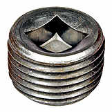 Pipe Plug C.S. Square 1/2-14 Npt, Head Size 3/8 In. NOE 7041876