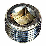 Pipe Plug C.S. Square 3/8-18 Npt, Head Size 5/16 In. NOE 7041885