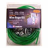 Wire Rope Kit Zinc 30 ft SCC 4743160