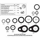 A/C O Rings / Seals - H/D Truck TWD MEI0129