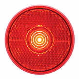 RV LED Marker/Clearance Light, Red, Round BK MCL0039RBBP